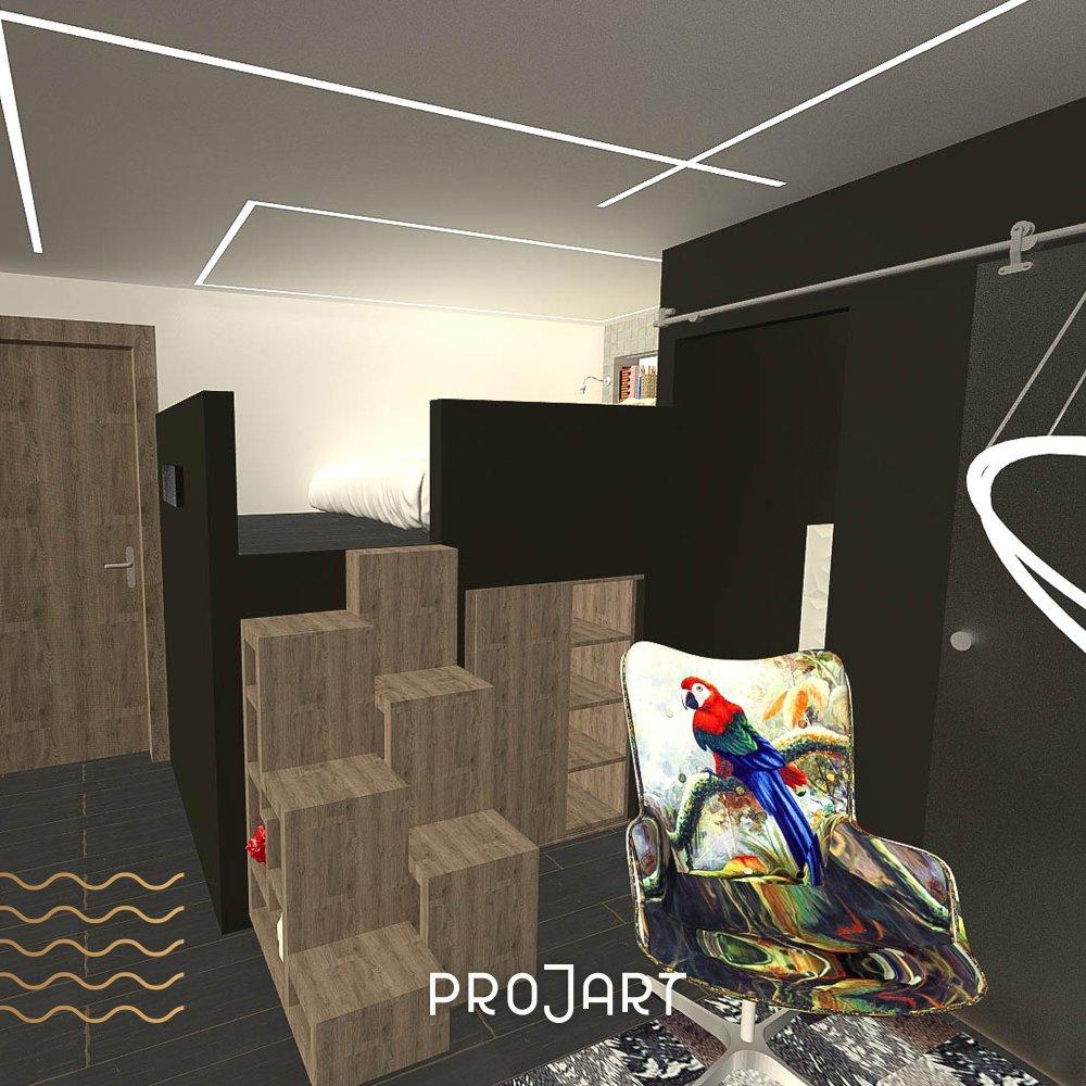Aménagement d'un garage en studio